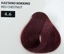 Exclusive color 100ml - 4.6 ΚΑΣΤΑΝΟ ΚΟΚΚΙΝΟ