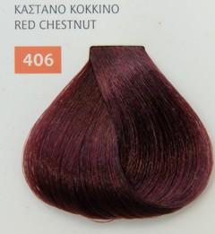 Mediterannean color 60ml - 406 ΚΑΣΤΑΝΟ ΚΟΚΚΙΝΟ