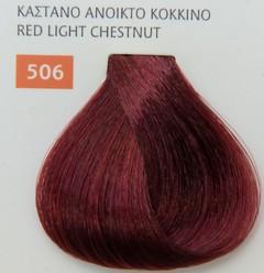 Mediterannean color 60ml - 506 ΚΑΣΤΑΝΟ ΑΝΟΙΚΤΟ ΚΟΚΚΙΝΟ