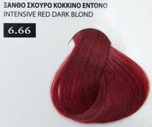 Exclusive color 100ml - 6.66 ΞΑΝΘΟ ΣΚΟΥΡΟ ΚΟΚΚΙΝΟ ΕΝΤΟΝΟ