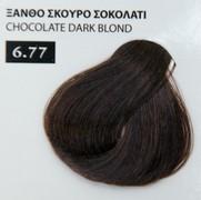 Exclusive color 100ml - 6.77 ΞΑΝΘΟ ΣΚΟΥΡΟ ΣΟΚΟΛΑΤΙ
