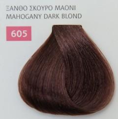 Mediterannean color 60ml - 605 ΞΑΝΘΟ ΣΚΟΥΡΟ ΜΑΟΝΙ