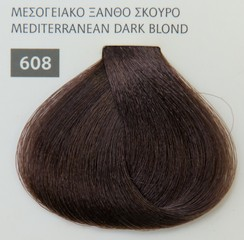 Mediterannean color 60ml - 608 ΜΕΣΟΓΕΙΑΚΟ ΞΑΝΘΟ ΣΚΟΥΡΟ