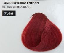 Exclusive color 100ml - 7.66 ΞΑΝΘΟ ΚΟΚΚΙΝΟ ΕΝΤΟΝΟ