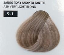 Exclusive color 100ml - 9.1 ΞΑΝΘΟ ΠΟΛΥ ΑΝΟΙΚΤΟ ΣΑΝΤΡΕ