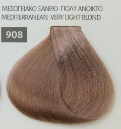 Mediterannean color 60ml - 908 ΜΕΣΟΓΕΙΑΚΟ ΞΑΝΘΟ ΠΟΛΥ ΑΝΟΙΚΤΟ