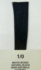 Mediterannean color BIO 60ml - 1/0 ΜΑΥΡΟ ΦΥΣΙΚΟ