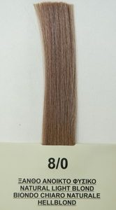Mediterannean color BIO 60ml - 8/0 ΞΑΝΘΟ ΑΝΟΙΚΤΟ ΦΥΣΙΚΟ